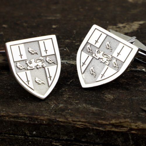 Shield Shaped Coat of Arms Cufflinks