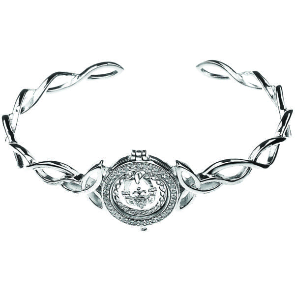 Celtic Silver Disc Bangle