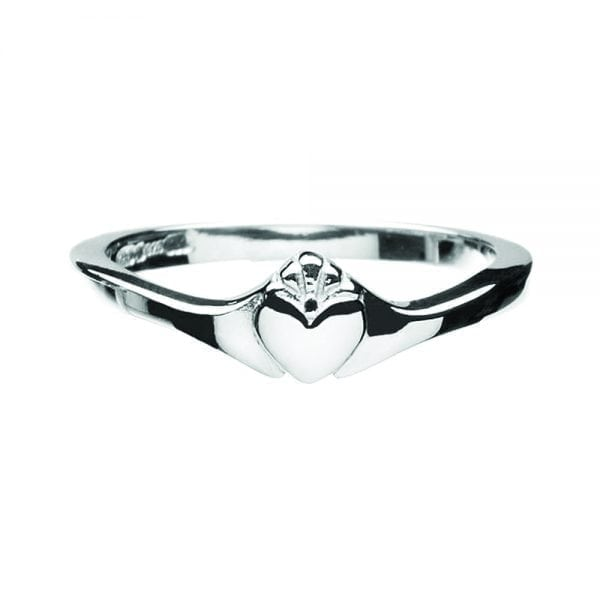 Contemporary Ladies Claddagh Ring