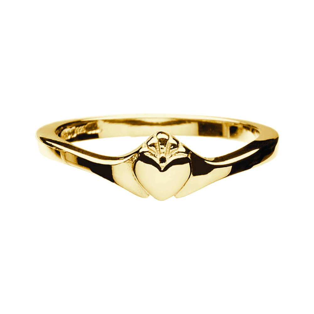 Contemporary Ladies Claddagh Ring Celtic Jewelry By Boru