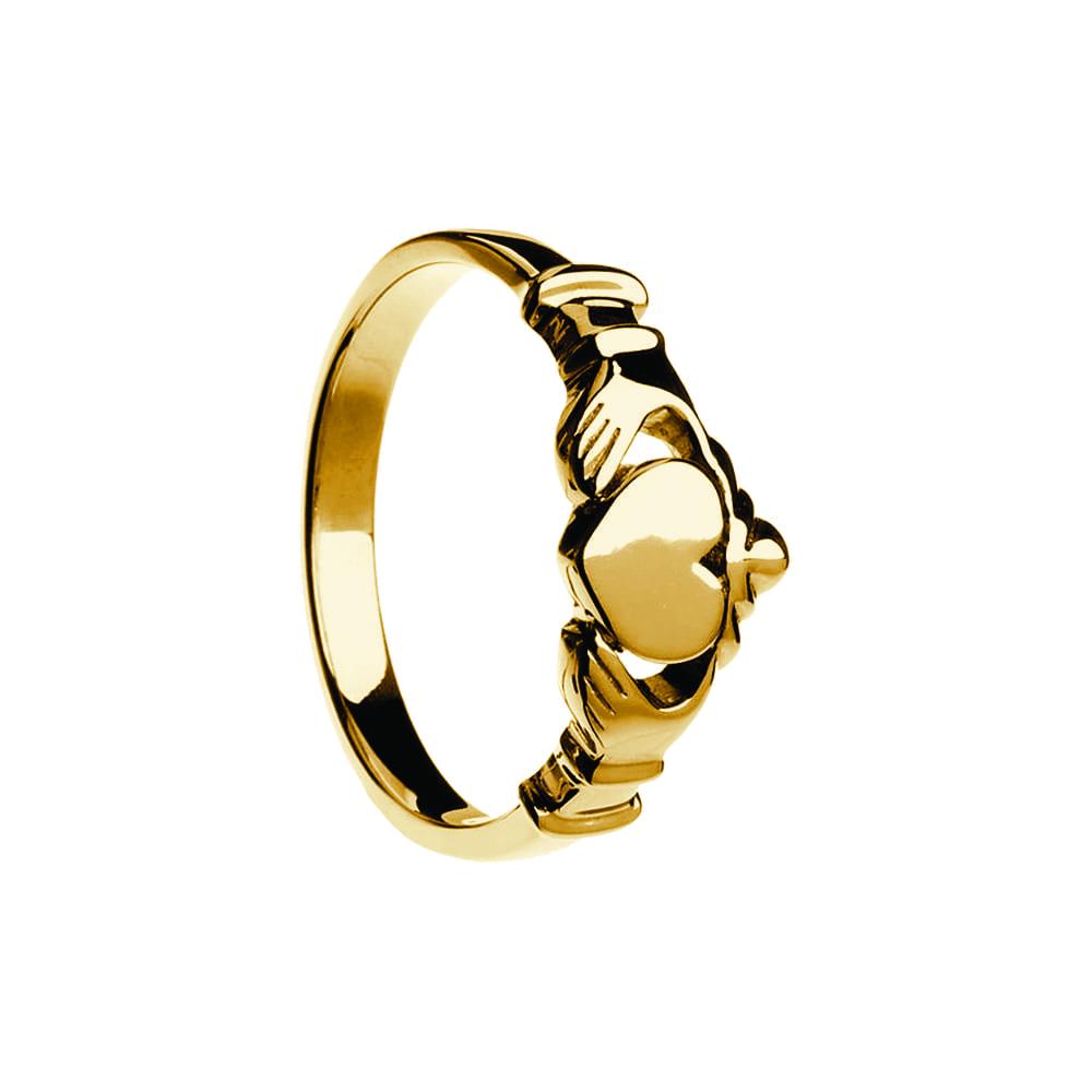 Contemporary Flat Claddagh Ring Modern Claddagh Ring Celtic Jewelry By Boru
