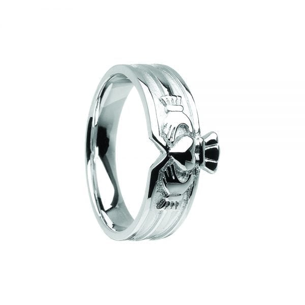 Unisex Contemporary Claddagh Ring
