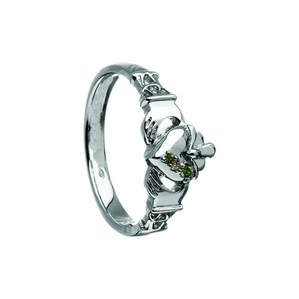 Stone Set Claddagh Ring