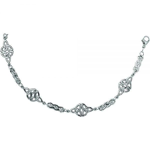 Silver Bracelet Trinity Celtic Knot