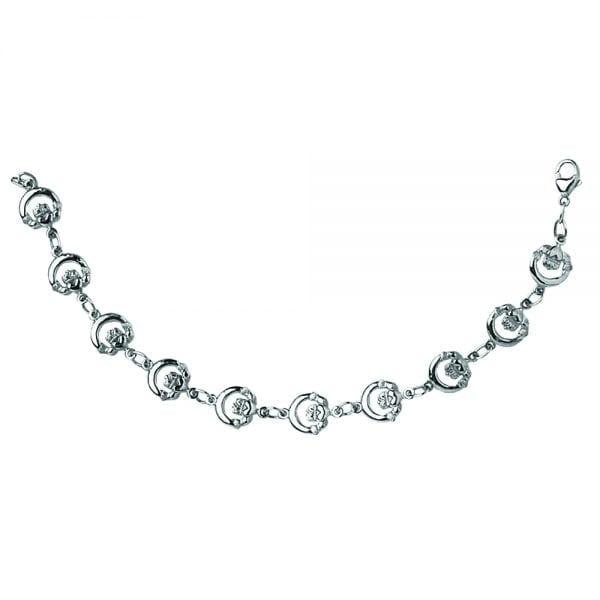 Silver Claddagh Bracelet