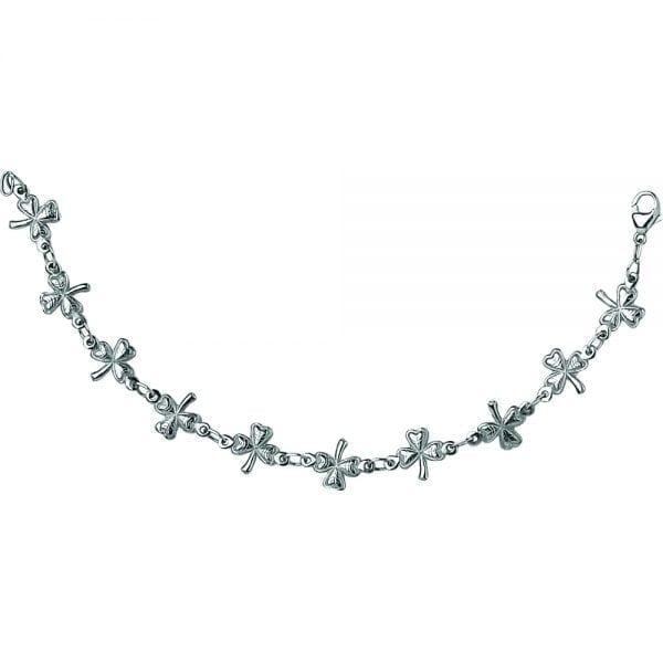 Silver Bracelet Shamrock Link