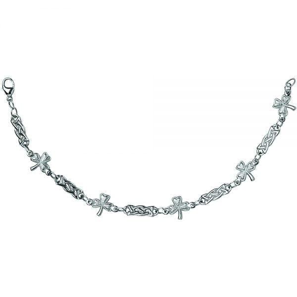Silver Bracelet Shamrock Celtic Knot