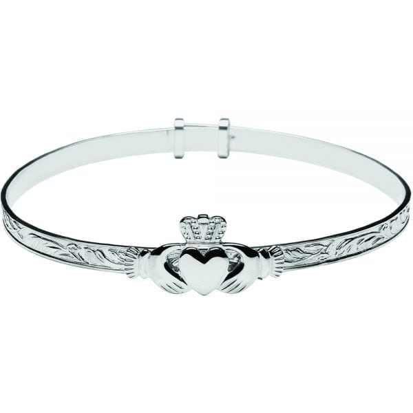 Maids Style Claddagh Bangle