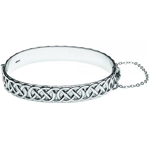 Silver Bangle Celtic Rope