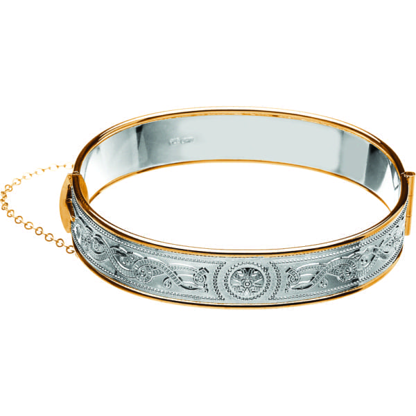 Celtic Warrior Gold Trim Bangle