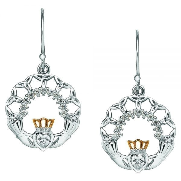 Silver Claddagh & Trinity Earrings