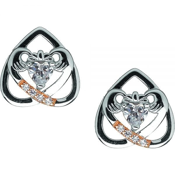 Claddagh Upside Down Earrings