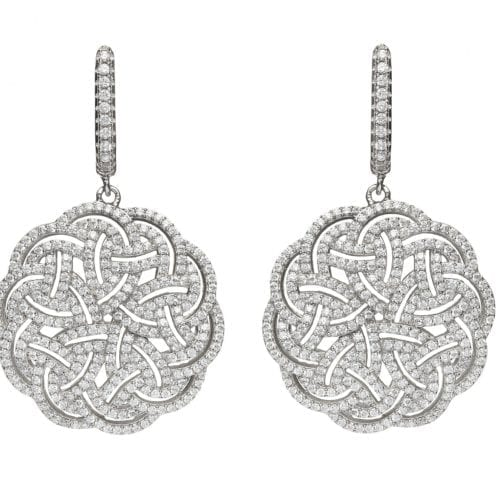 Interlaced Celtic Knot Earrings