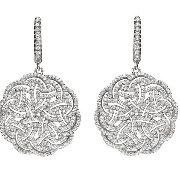Interlaced Celtic Knot Earrings