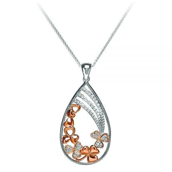 Silver Shamrock Pendant