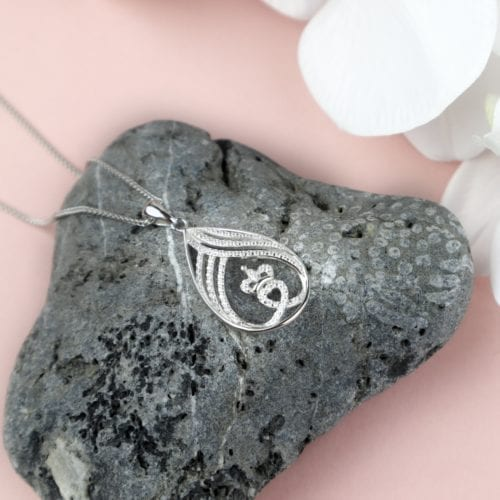 Small Claddagh Teardrop Pendant