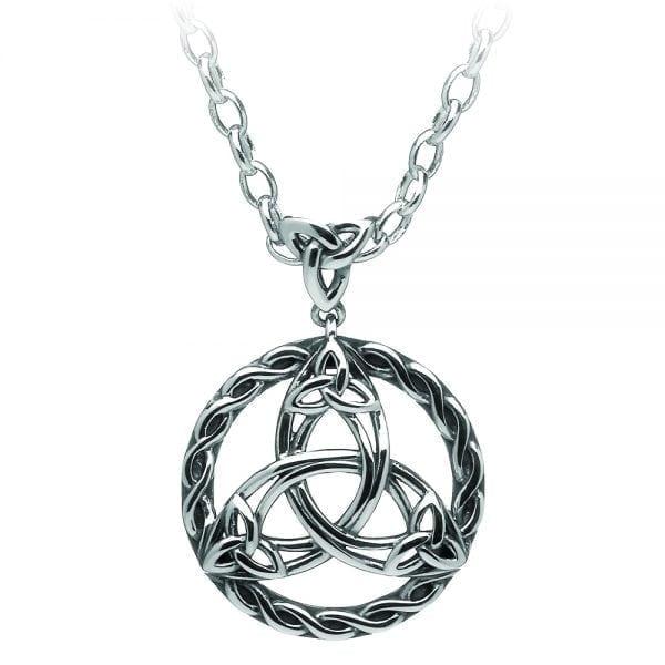 Silver Pendant Celtic Circle Trinity