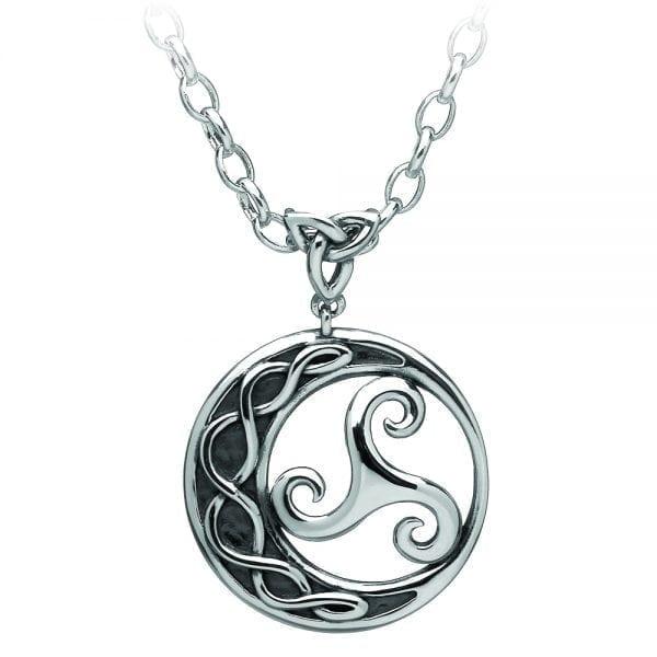 Silver Pendant Triscele Newgrange Circle