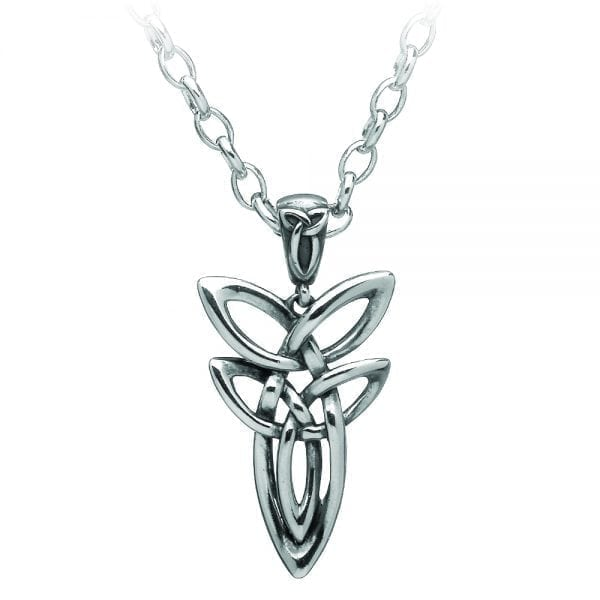 Silver Pendant Double Trinity Knot