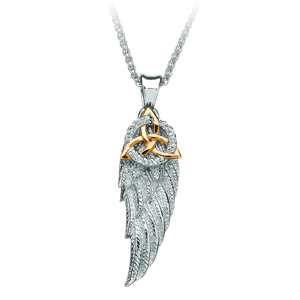 Angel Wing Trinity Pendant
