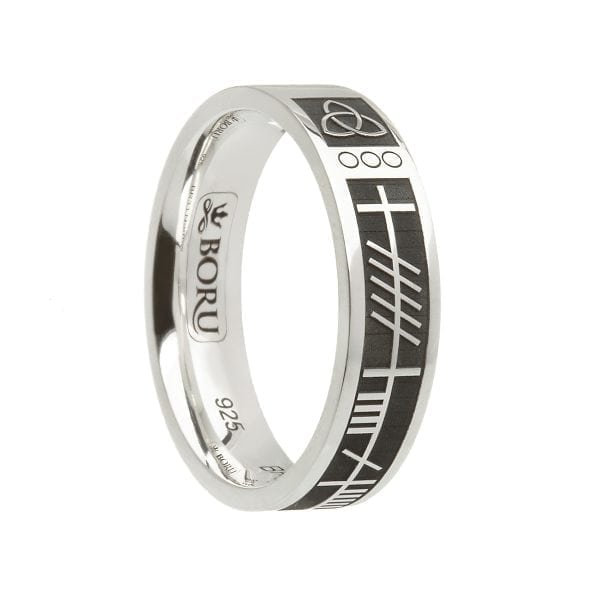 Ogham My Soul Mate Wedding Ring – Narrow