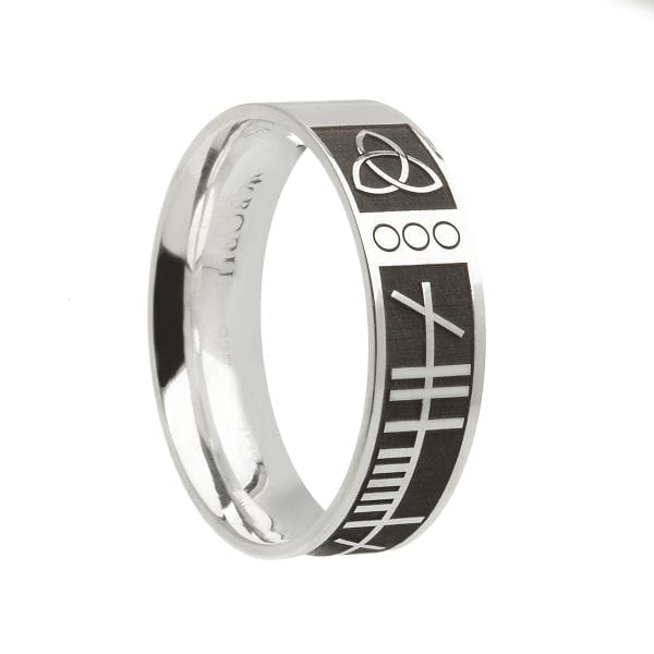 Ogham My Soul Mate Wedding Ring – Wide