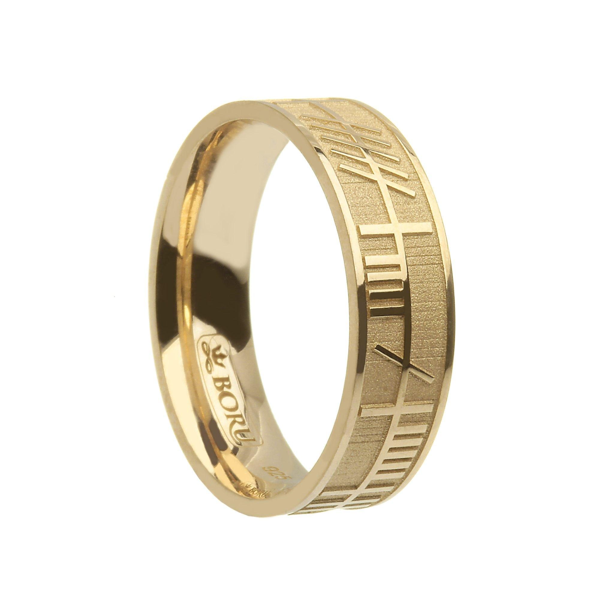 Ogham My Soul Mate Wedding Ring