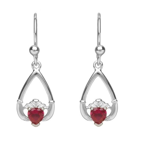July Claddagh Earrings