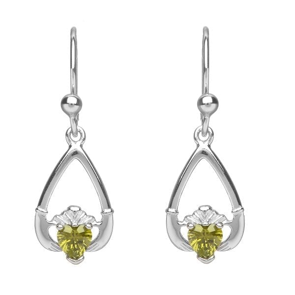 August Claddagh Earrings