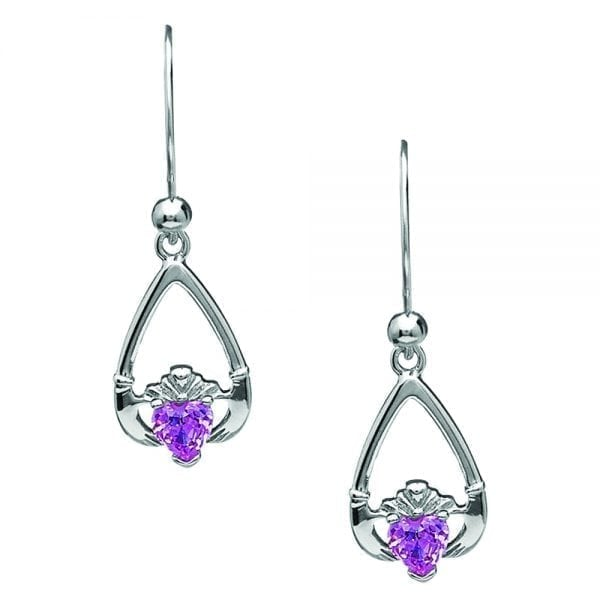 October Claddagh Earrings