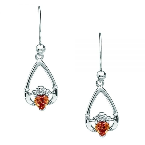 November Claddagh Earrings