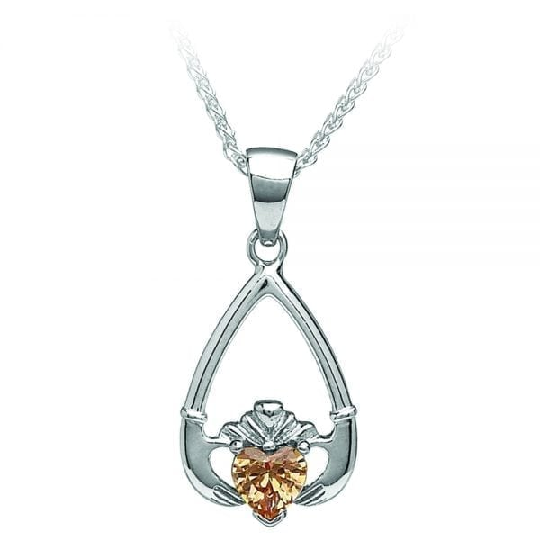 November Claddagh Pendant