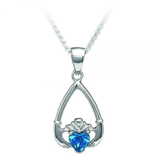December Claddagh Pendant