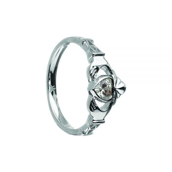 April Birthstone Ring – Cubic Zirconia