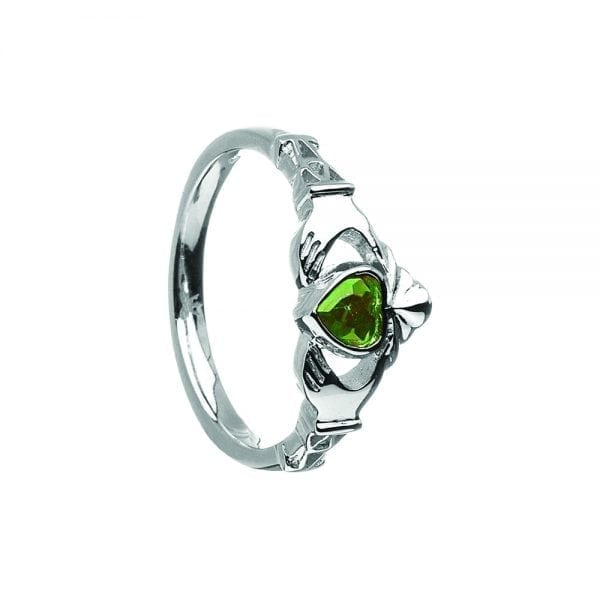 May Birthstone Ring – Green Cubic Zirconia