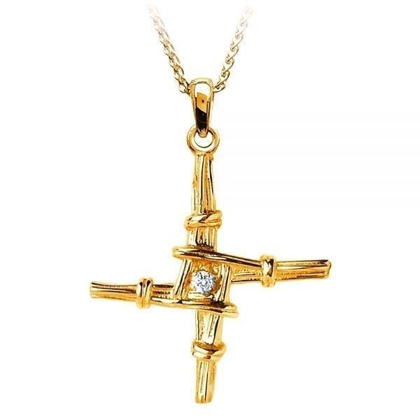 St. Bridget Cross Diamond Set – Small