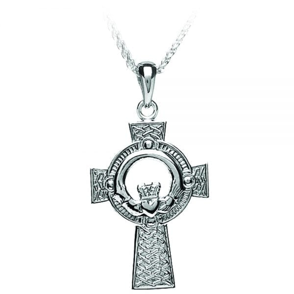 Medium Claddagh Cross Pendant