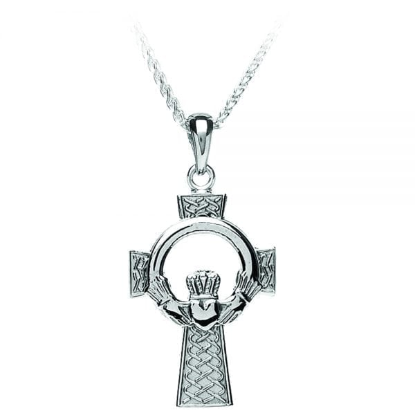 Large Claddagh Cross Pendant