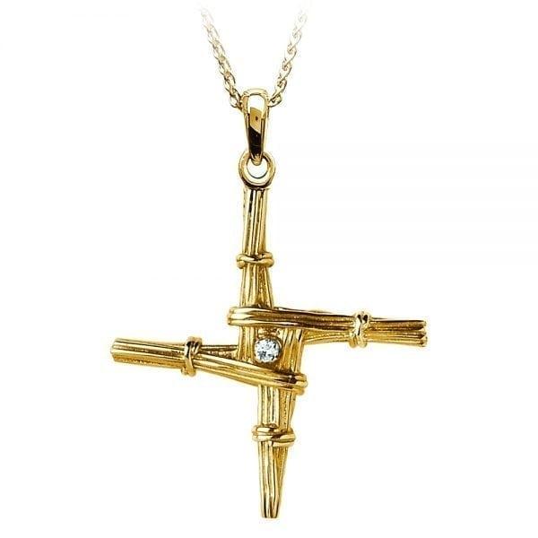 St. Bridget Cross Diamond Set  – Medium