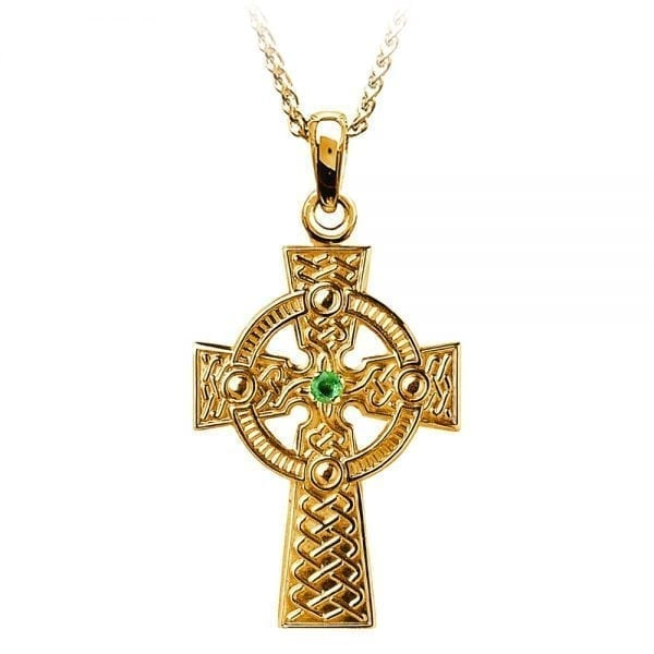 Traditional Celtic Knot with Emerald –  Large