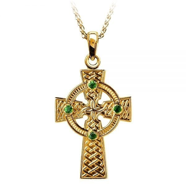 Traditional Celtic Knot with Emeralds –  Large