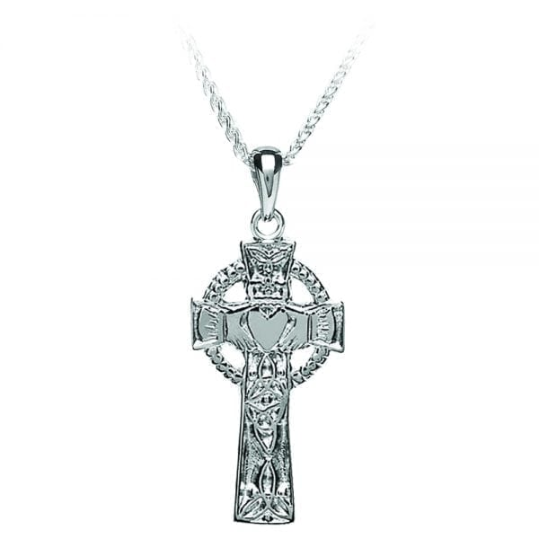 Claddagh and Trinity Cross Pendant
