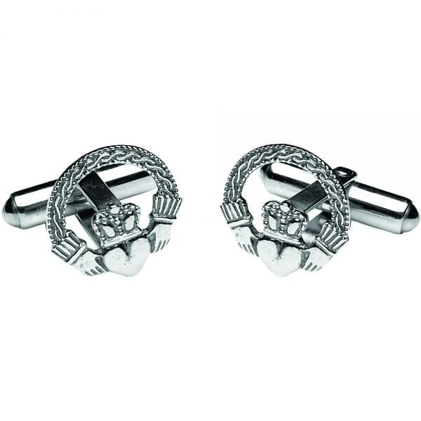 Engraved Claddagh Cufflinks