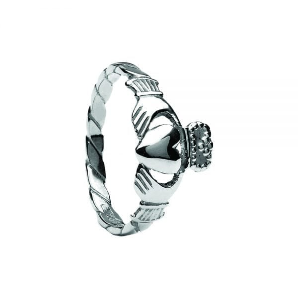 Ladies Twisted Claddagh Ring