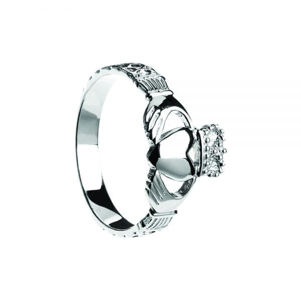 Gents Celtic Rope Claddagh Ring