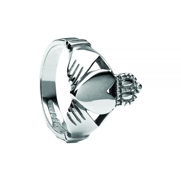 Mens Large Claddagh Ring