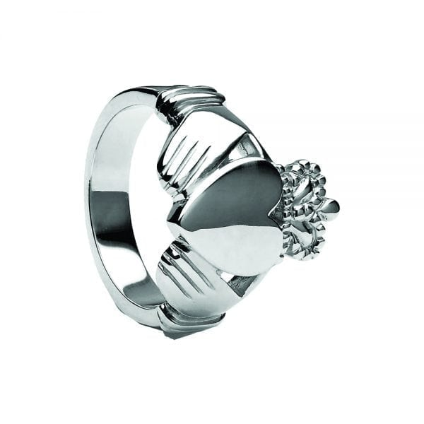 Heavy Large Gents Claddagh Ring