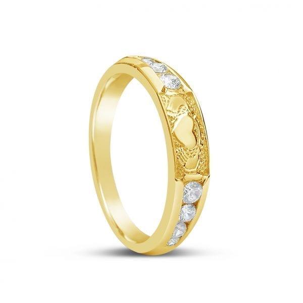 Diamond Claddagh Eternity Ring