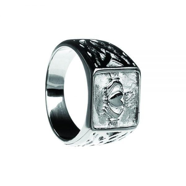 Gents Signet Claddagh Ring