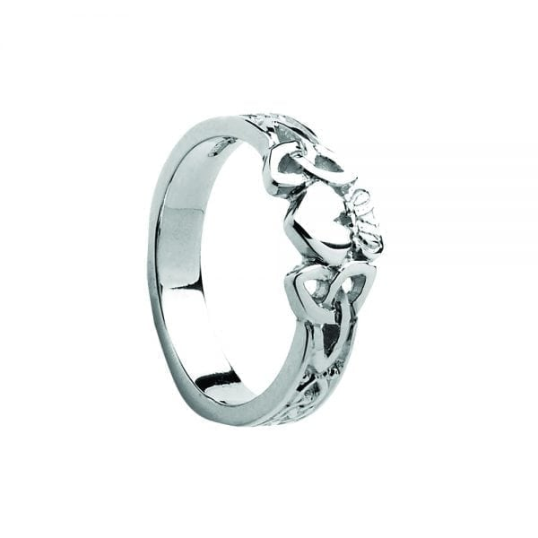 Ladies Trinity Claddagh Ring